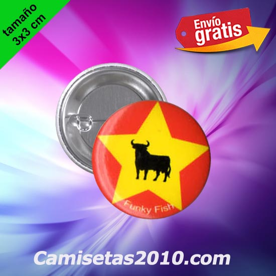 CHAPA PINS COLOR 3x3 TORO