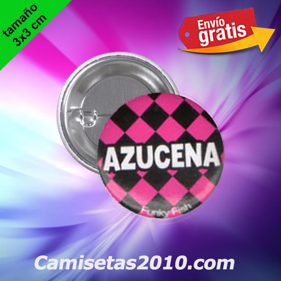 CHAPA PINS COLOR 3x3 AZUCENA-