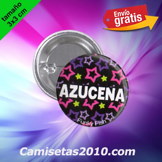 CHAPA PINS COLOR 3x3 AZUCENA