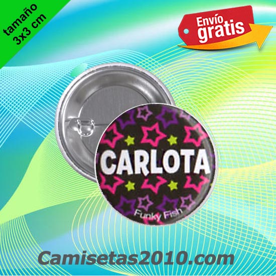 CHAPA PINS COLOR 3x3 CARLOTA-