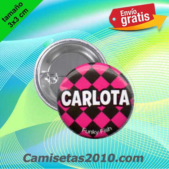 CHAPA PINS COLOR 3x3 CARLOTA
