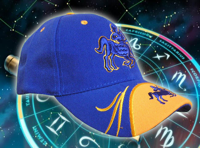 GORRA BORDADA CON SIGNO HOROSCOPO SAGITARIO