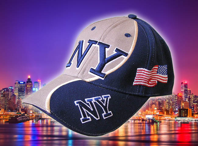 GORRA BORDADA CON BANDERA USA Y NEW YORK2