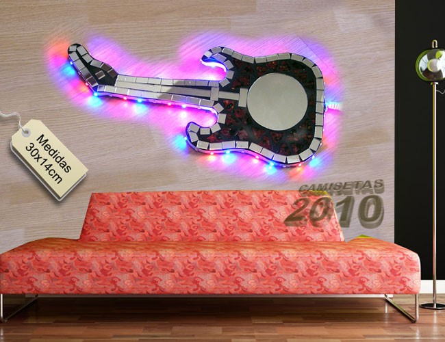 LAMPARA CARTEL ROTULO CON GUITARRA ELECTRICA Y LUCES LEDS 02