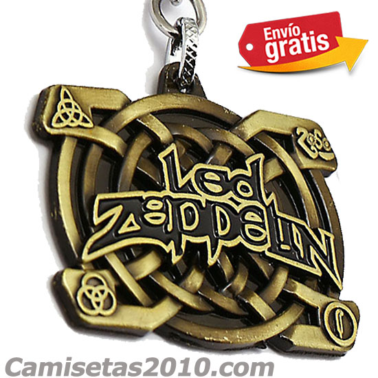 LLAVERO METAL GRABADO EN RELIEVE GRUPO LED ZEPPELIN COLOR BRONZE