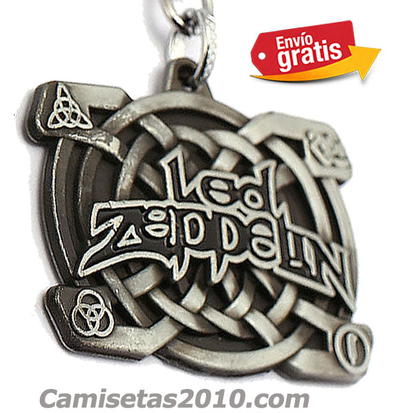 LLAVERO METAL GRABADO EN RELIEVE GRUPO LED ZEPPELIN PLATEADO