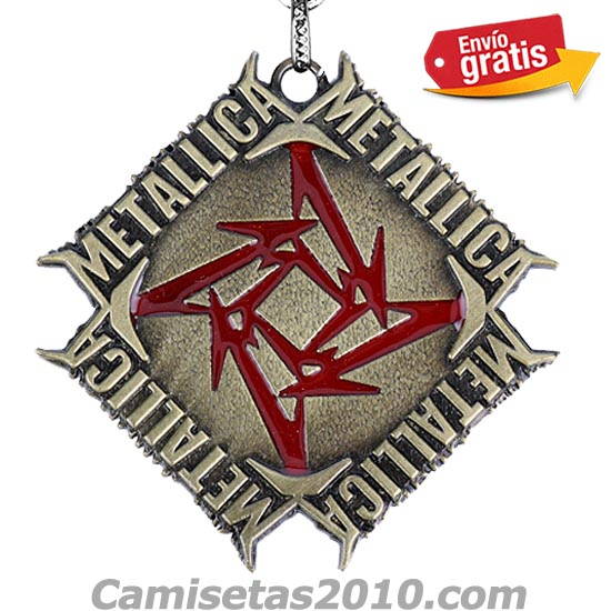 LLAVERO METAL GRABADO EN RELIEVE GRUPO METALLICA COLOR BRONZE