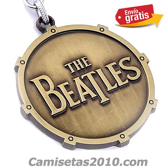 LLAVERO METAL GRABADO EN RELIEVE GRUPO THE BEATLES COLOR BRONZE