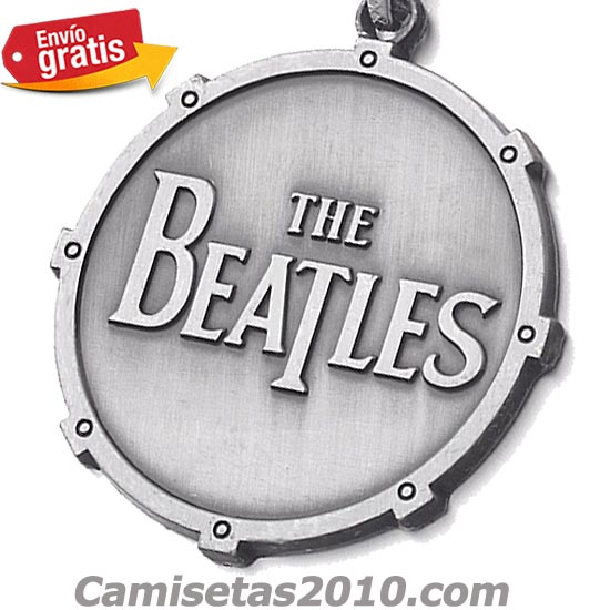 LLAVERO METAL GRABADO EN RELIEVE GRUPO THE BEATLES PLATEADO