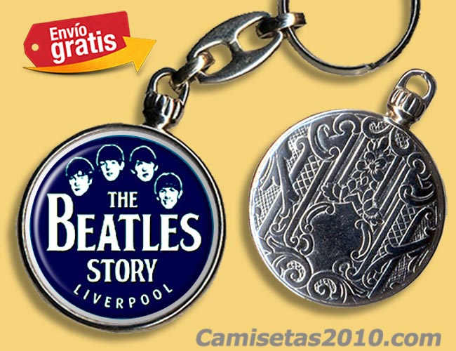 LLAVERO METAL GRUPO MUSICA THE BEATLES LIVERPOOL STORY