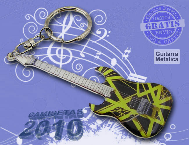 LLAVERO MINI GUITARRA ELECTRICA METALICO 05