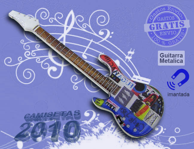 MINI GUITARRA ELECTRICA METALICA IMAN 04
