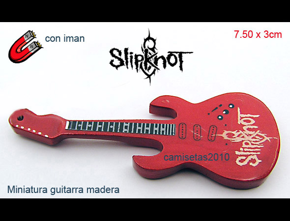 MINI GUITARRA EN MADERA IMAN SLIPKNOT