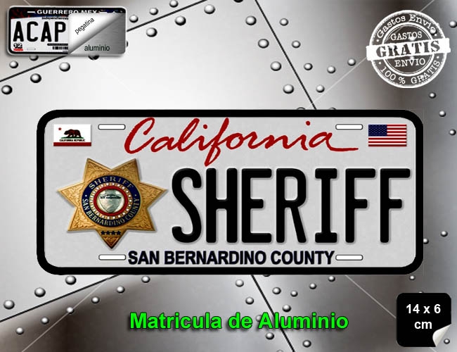 MINI MATRICULA CALIFORNIA SHERIFF