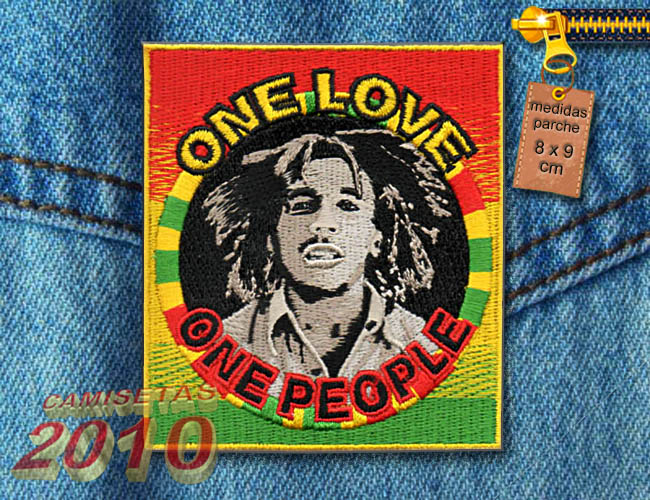 PARCHE  BORDADO CON BOB MARLEY ONE PEOPLE