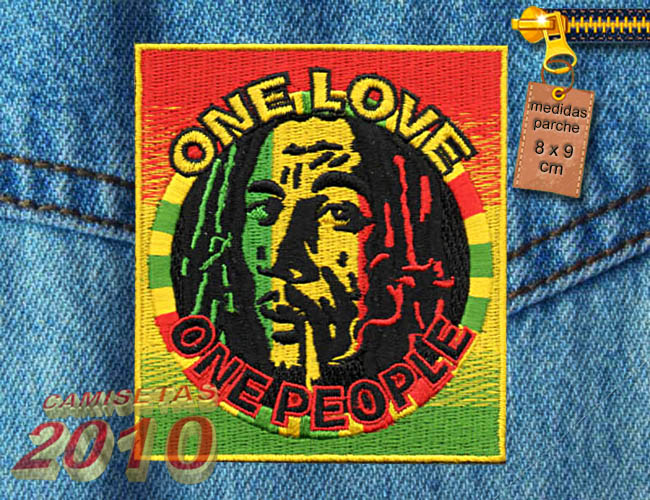 PARCHE  BORDADO CON BOB MARLEY ONE PEOPLE2