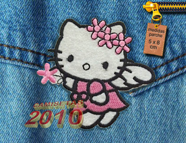 PARCHE  BORDADO CON GATITA HELLO KITTY