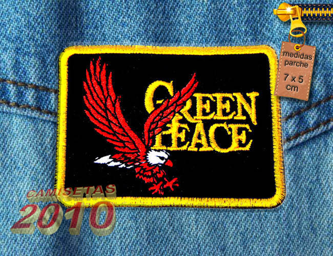 PARCHE BORDADO CON AGUILA GREEN PEACE