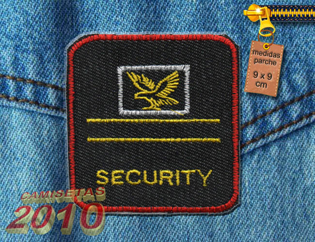 PARCHE BORDADO CON AGUILA SECURITY