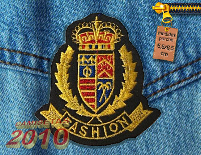 PARCHE BORDADO CON EL ESCUDO REAL FASHION