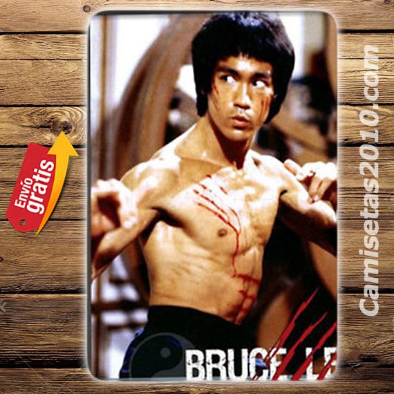 PLACA METALICA VINTAGE BRUCE LEE OPERACION DRAGON