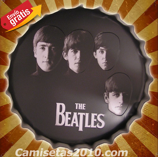 CHAPA METALICA VINTAGE GRUPO MUSICA ROCK THE BEATLES
