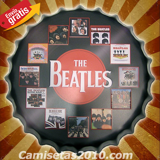 CHAPA METALICA VINTAGE GRUPO ROCK THE BEATLES VINILOS