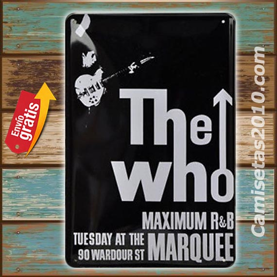 PLACA METALICA VINTAGE GRUPO MUSICA ROCK THE WHO