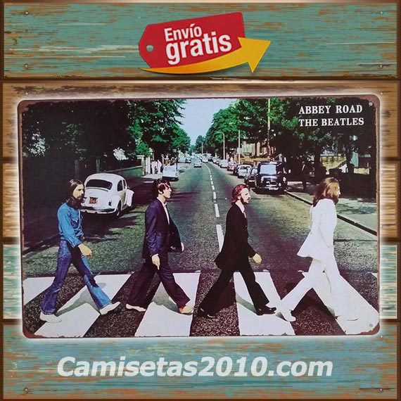 PLACA METALICA VINTAGE GRUPO MUSICA ROCK THE BEATLES ABBEY ROAD